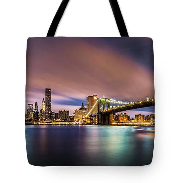 New Dawn Over New York Tote Bag by Mihai Andritoiu