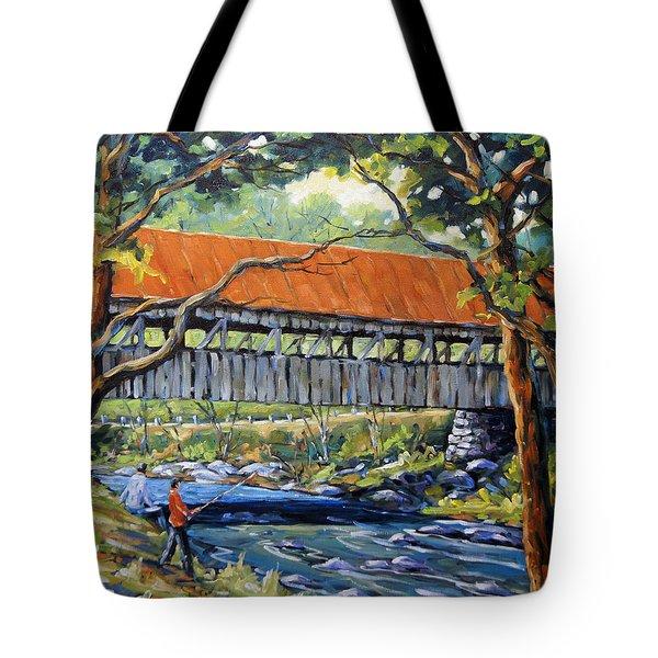 New England Covered Bridge By Prankearts Tote Bag by Richard T Pranke