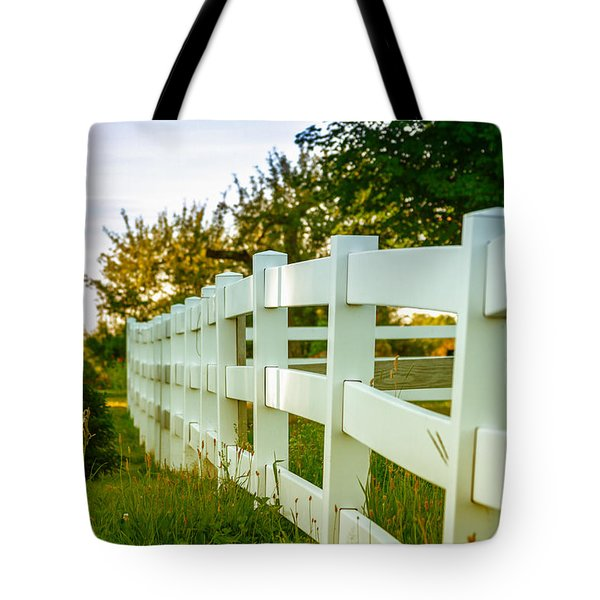 New England Fenceline Tote Bag
