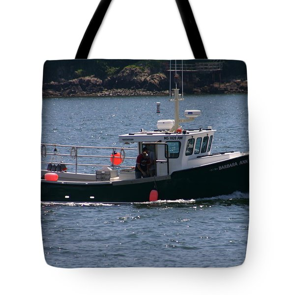 Tote Bag featuring the photograph New England Fishing Boat by Denyse Duhaime