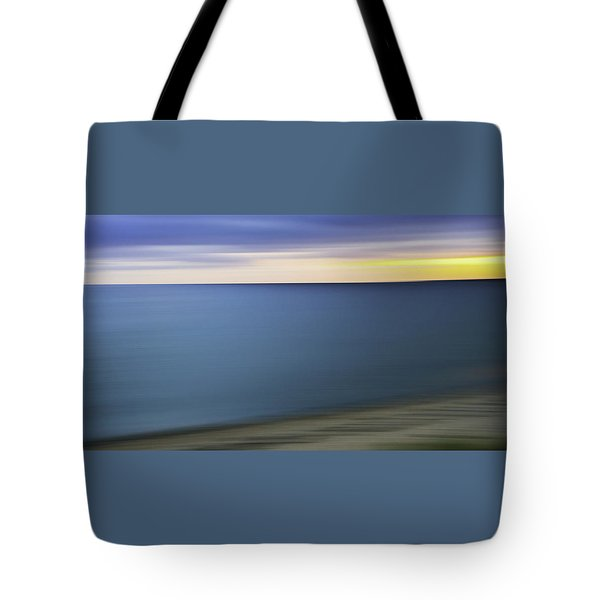 New England Seascape Abstract Tote Bag