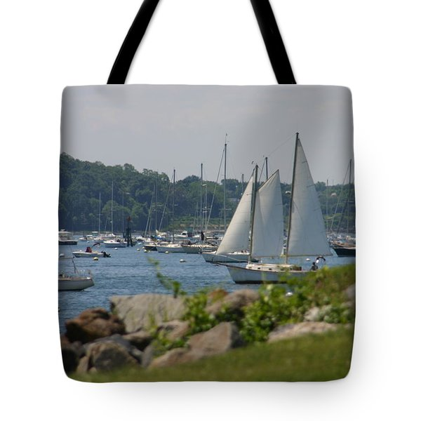 Tote Bag featuring the photograph New England Seascape by Denyse Duhaime