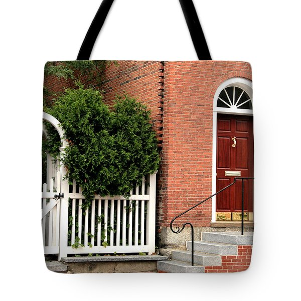 New England Street Scene Tote Bag