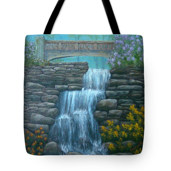 New England Waterfall Tote Bag by Pamela Allegretto