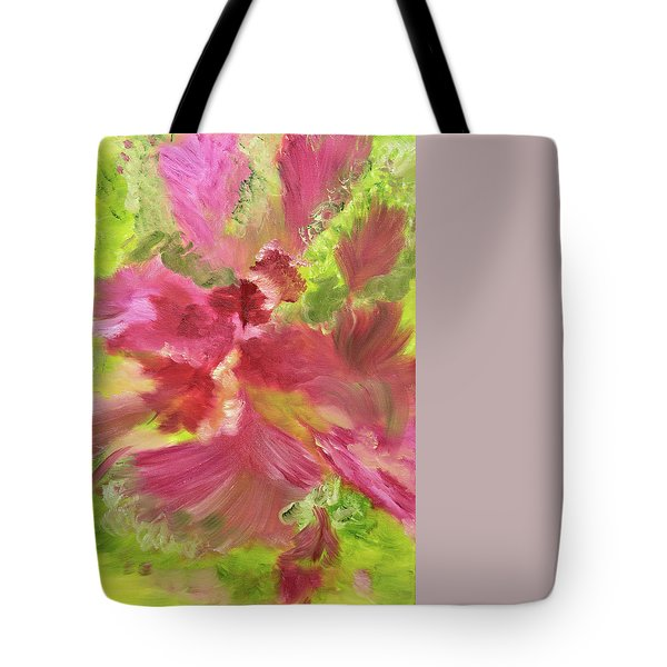 Purple Cotton Breeze Tote Bag by Meryl Goudey