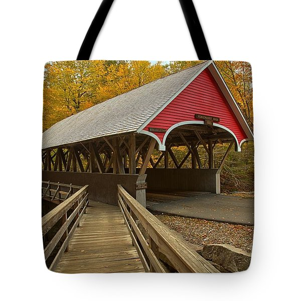 New Hampshire Covered Bridge Tote Bag