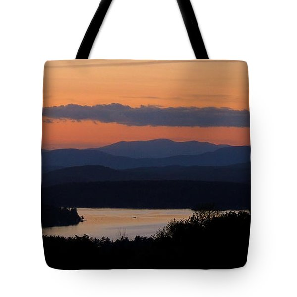 New Hampshire Sunset Tote Bag by Mim White