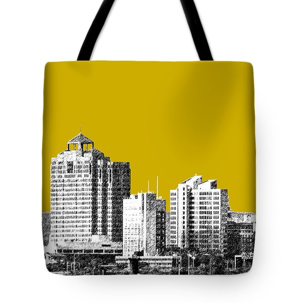 New Haven Skyline - Gold Tote Bag