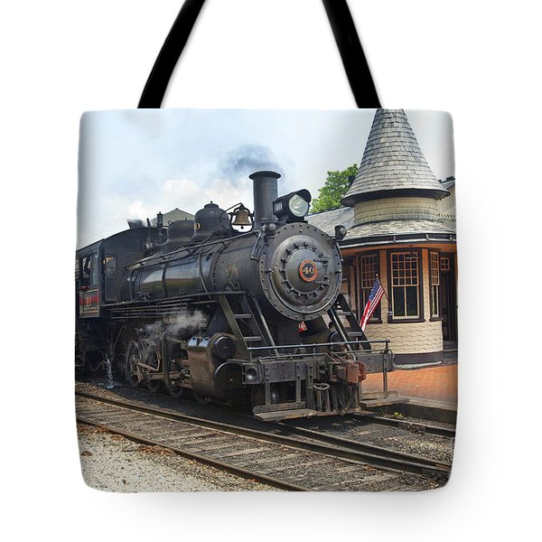 New Hope Station Tote Bag by Paul W Faust -  Impressions of Light