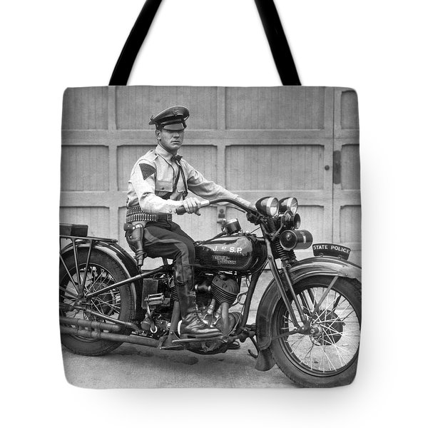 New Jersey Motorcycle Trooper Tote Bag