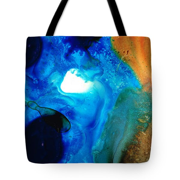 New Life - Abstract Landscape Art Tote Bag by Sharon Cummings