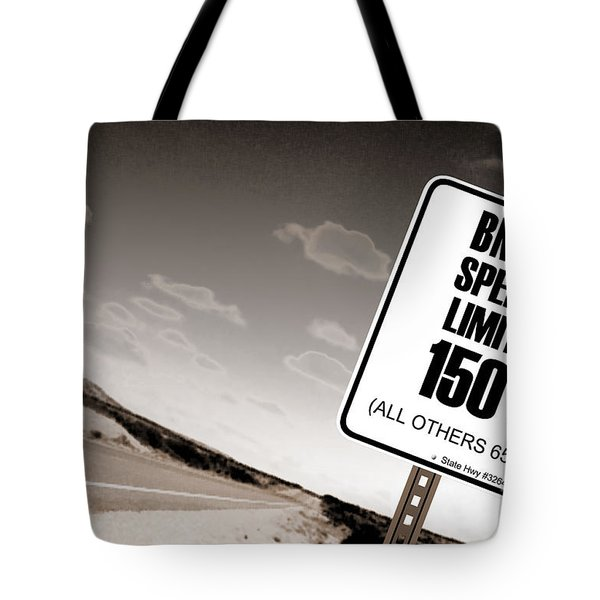New Limits Sepia Tote Bag by David Jackson