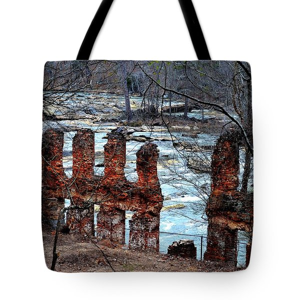 New Manchester Manufacturing Company Ruins Tote Bag by Tara Potts