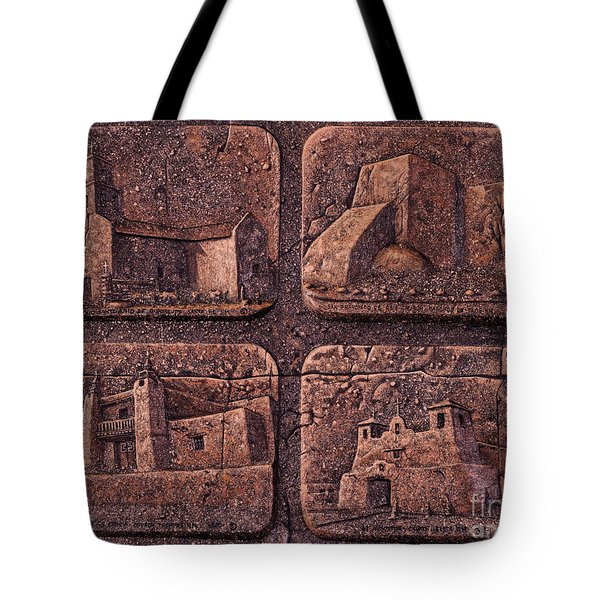 New Mexico Churches Tote Bag by Ricardo Chavez-Mendez