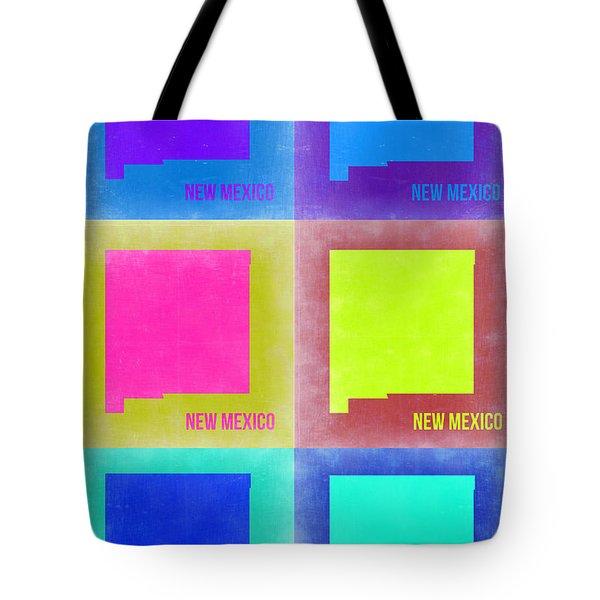 New Mexico Pop Art Map 2 Tote Bag