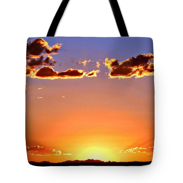 Tote Bag featuring the photograph New Mexico Sunset Glow by Barbara Chichester