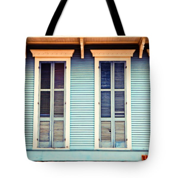 Tote Bag featuring the photograph New Orleans Blue And Orange House by Sylvia Cook