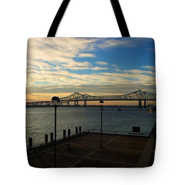 Tote Bag featuring the photograph New Orleans Bridge by Erika Weber