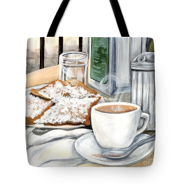New Orleans Cafe Du Monde Tote Bag by Elaine Hodges