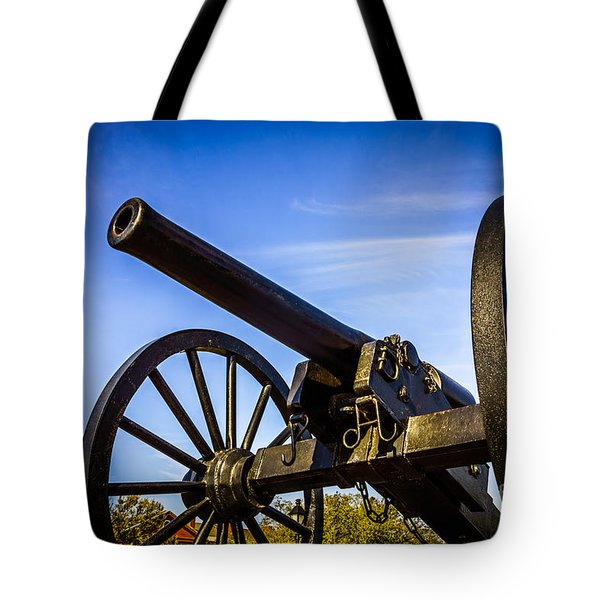 New Orleans Cannon At Washington Artillery Park Tote Bag by Paul Velgos