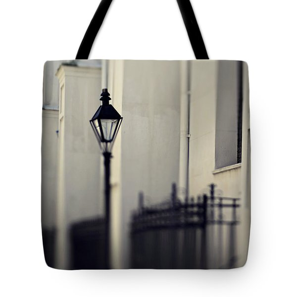 Tote Bag featuring the photograph New Orleans Cathedral Street Lamp by Heather Green