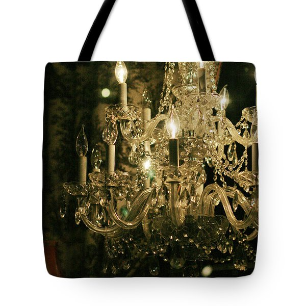Tote Bag featuring the photograph New Orleans Chandelier by Heather Green