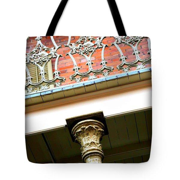 New Orleans Column Tote Bag by Carol Groenen
