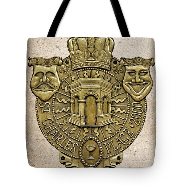 New Orleans Drama Faces Tote Bag by Christine Till