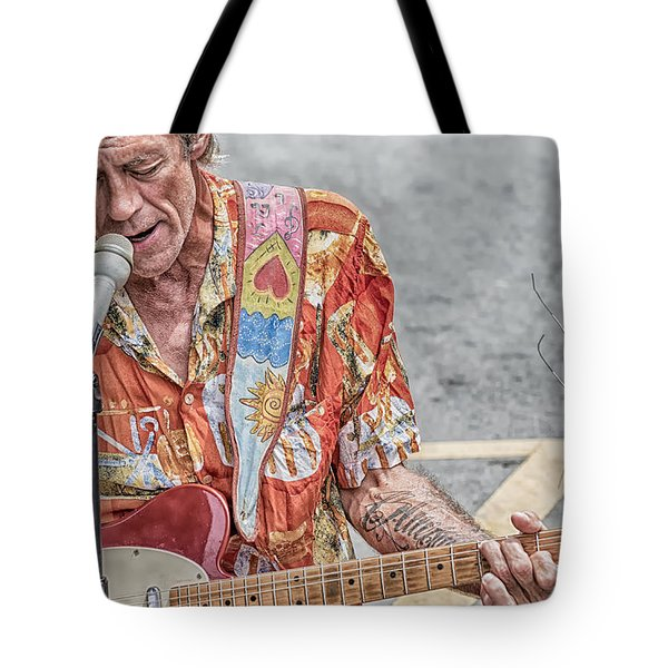 New Orleans Guitar Man Tote Bag