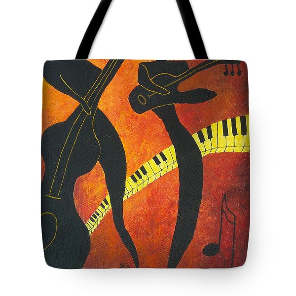 New Orleans Jazz Tote Bag by Pamela Allegretto