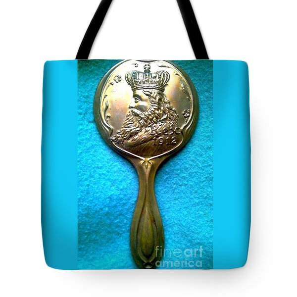 Tote Bag featuring the photograph New Orleans Louisiana Usa Mardi Gras Favor Rex 1912 by Michael Hoard
