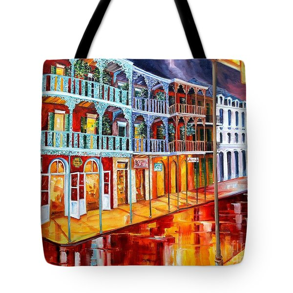 New Orleans Reflections In Red Tote Bag by Diane Millsap