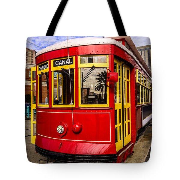 New Orleans Streetcar  Tote Bag by Paul Velgos