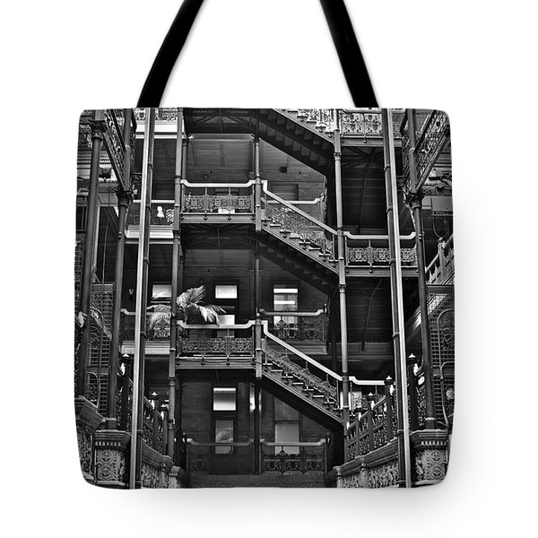 New Photographic Art Print For Sale Bradbury Building Downtown La Tote Bag by Toula Mavridou-Messer