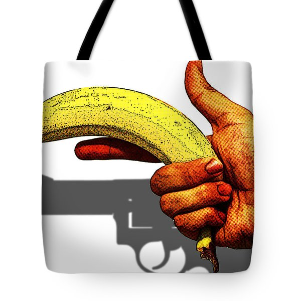New Photographic Art Print For Sale   Hand Gun Against A White Background Tote Bag
