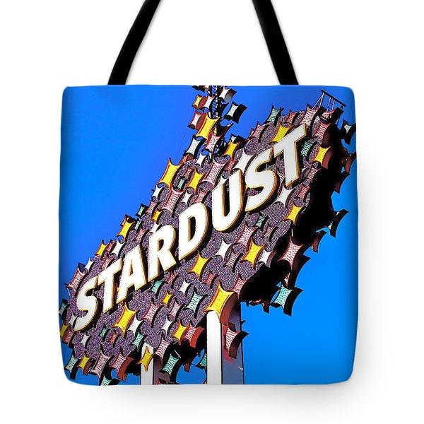 Original Stardust Casino Neon In Las Vegas Pop Art Tote Bag