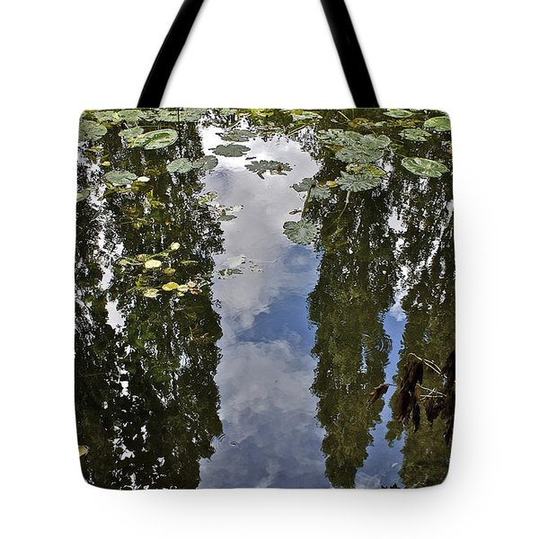 Reflections Amongst The Lily Pads Tote Bag
