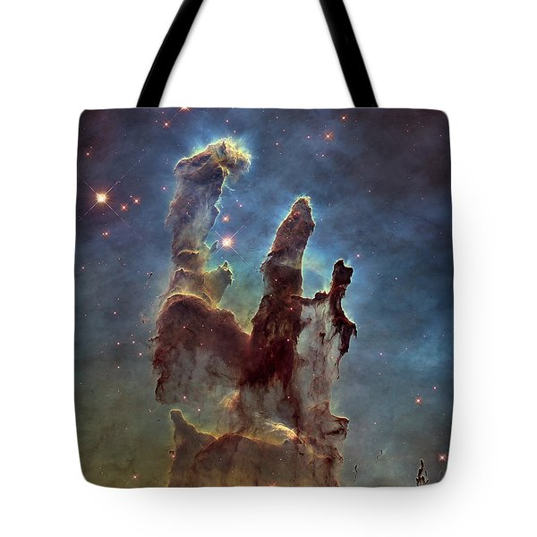 New Pillars Of Creation Hd Square Tote Bag