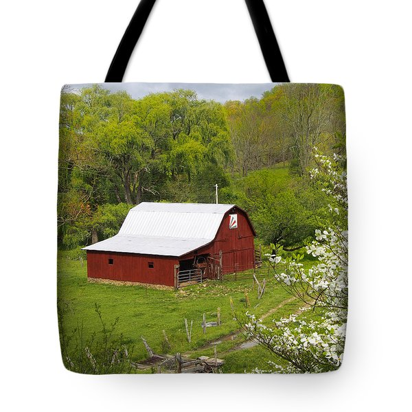 New Red Paint 2 Tote Bag by Mike McGlothlen