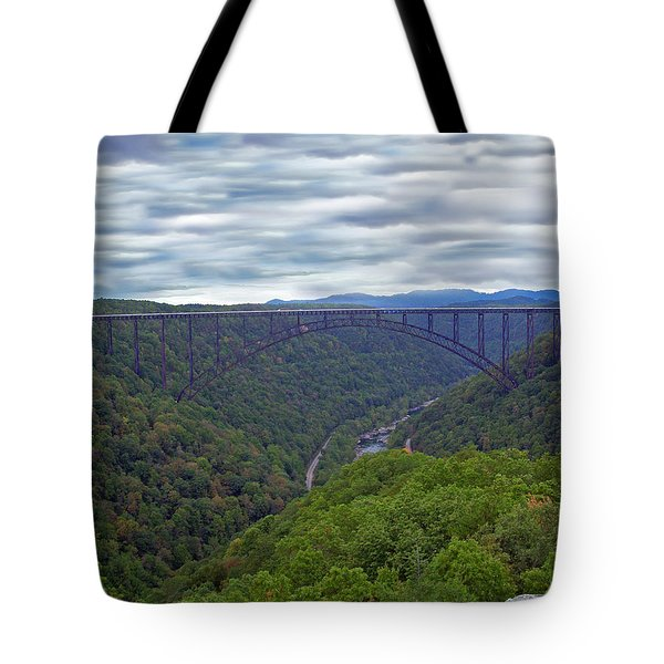 New River Bridge Tote Bag by Aimee L Maher Photography and Art Visit ALMGallerydotcom