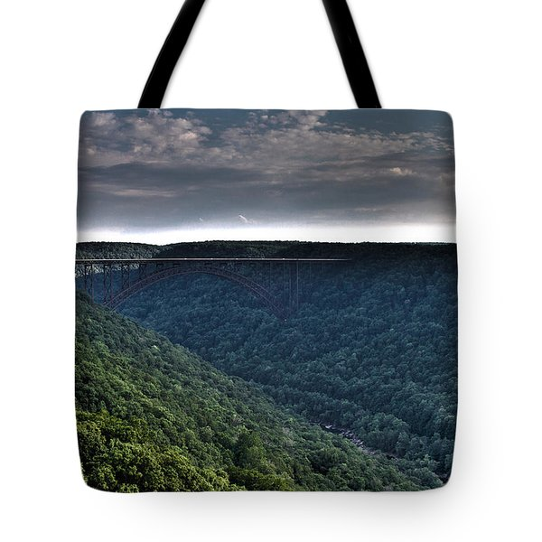 New River Bridge Tote Bag