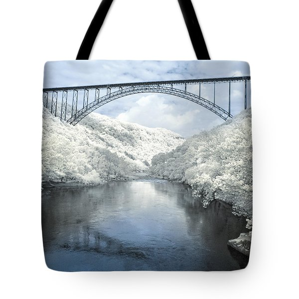 New River Gorge Bridge In Infrared Tote Bag