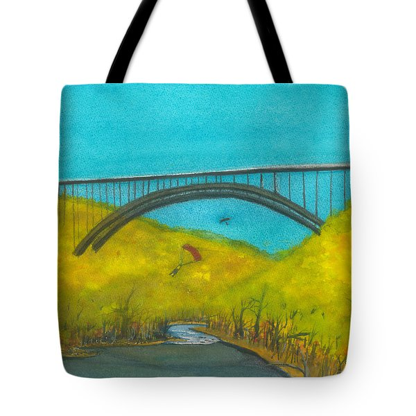 New River Gorge Bridge On Bridge Day Tote Bag