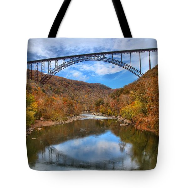New River Gorge Reflections Tote Bag
