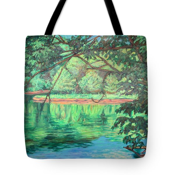 New River Reflections Tote Bag by Kendall Kessler