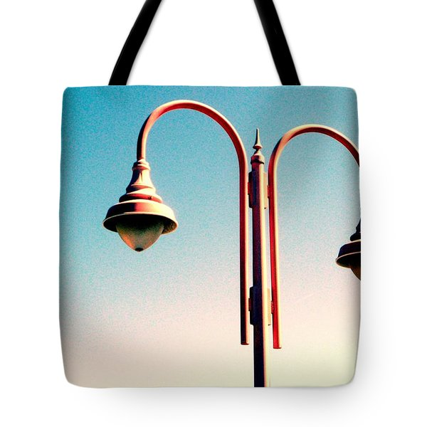 Beach Lamp Post Tote Bag