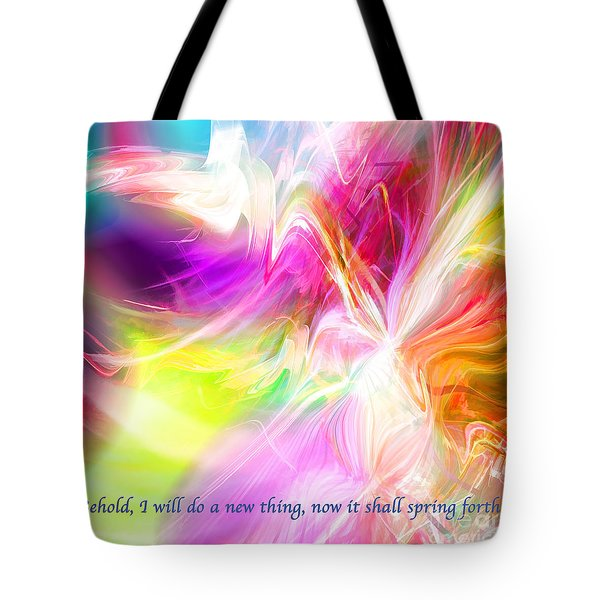 Tote Bag featuring the digital art New Thing by Margie Chapman