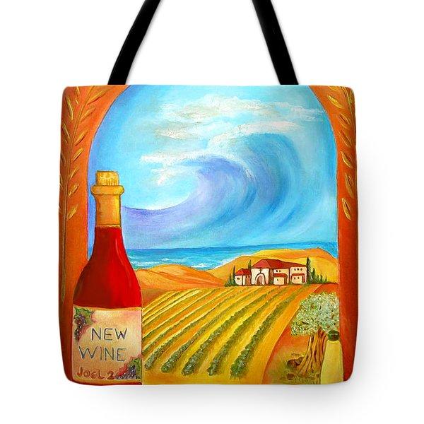 New Wine  Joel 2 Tote Bag