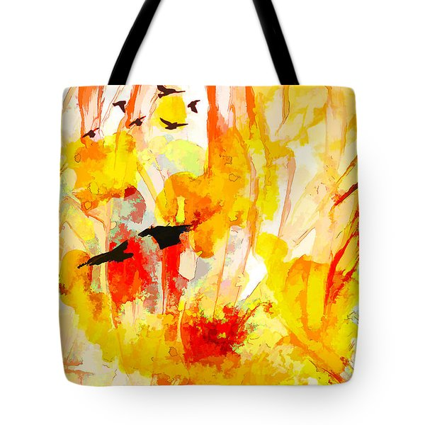 Tote Bag featuring the painting New World by Ron Richard Baviello
