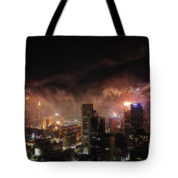 New Year Fireworks Tote Bag by Ray Warren